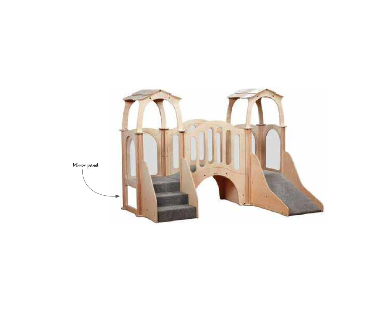 Discovery Bridge Playscapes Kinder Gym With Roof Millhouse Seated Furniture Online