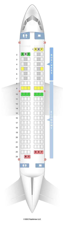 SeatGuru Seat Map Air France Airbus A318 (318)
