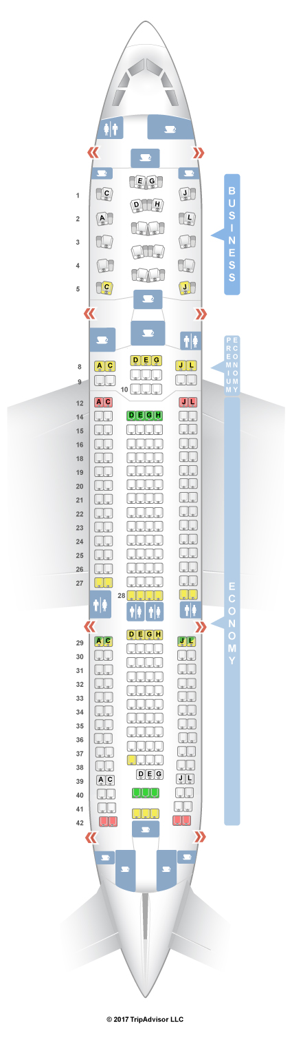 Airbus A330 200 Seating Chart Delta Elcho Table