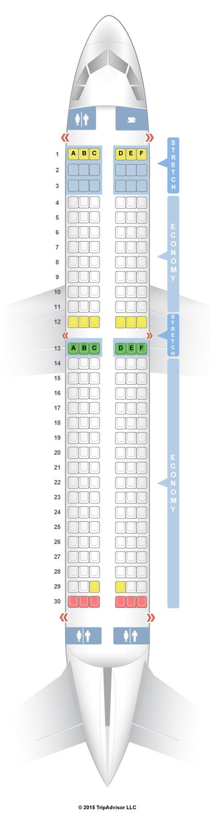 SeatGuru Seat Map Frontier Airbus A320 (320) V1