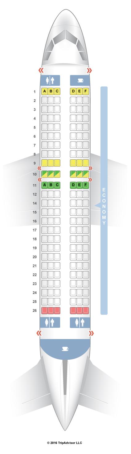 SeatGuru Seat Map InterJet Airbus A320 (320)