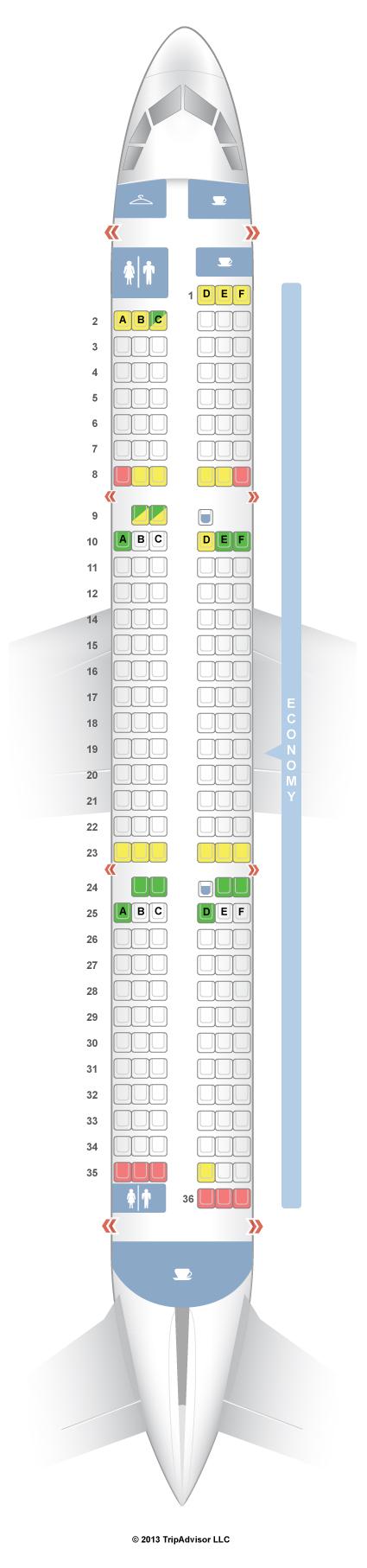 SeatGuru Seat Map SAS Airbus A321 (321)