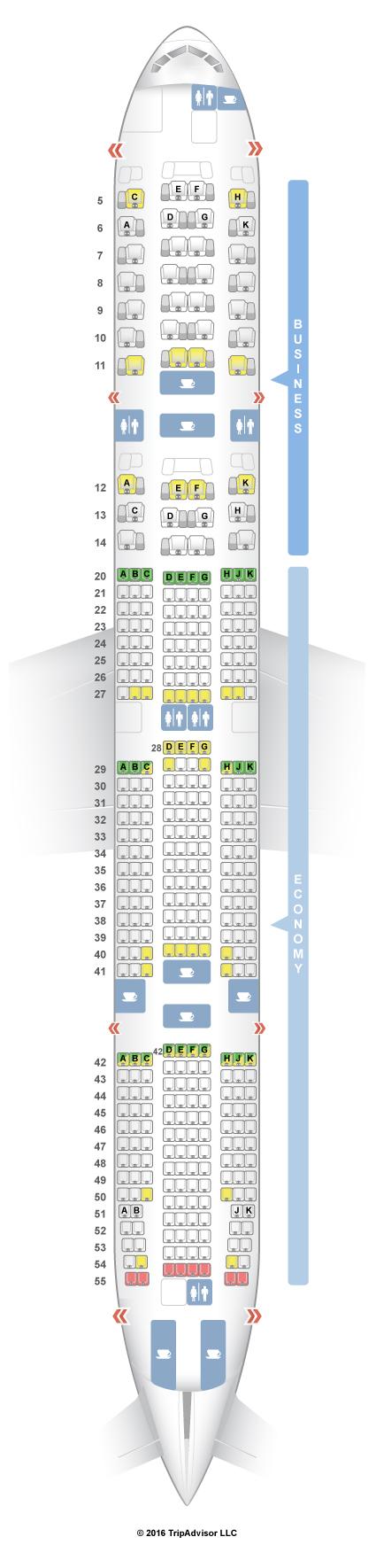 Seating Plan For Boeing 777 300er Jet Etihad Elcho Table