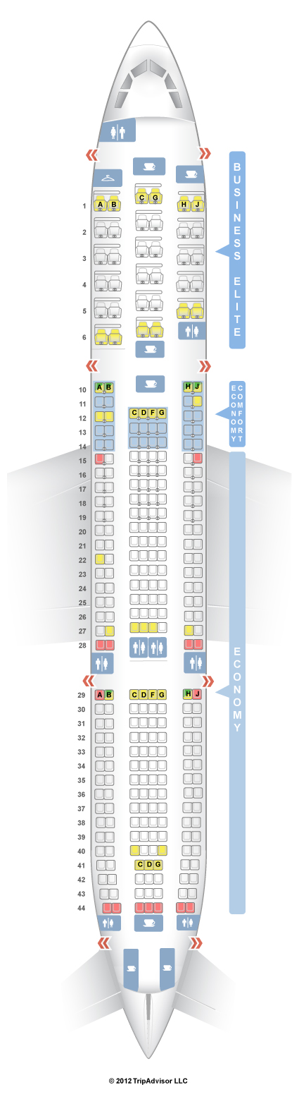 Airbus A330 Seating Chart Delta - Best Seat 2018