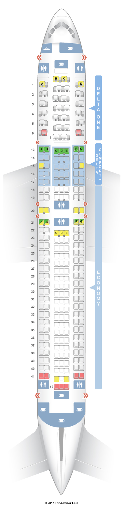 Delta Boeing 767 Seating Chart - Otvod on