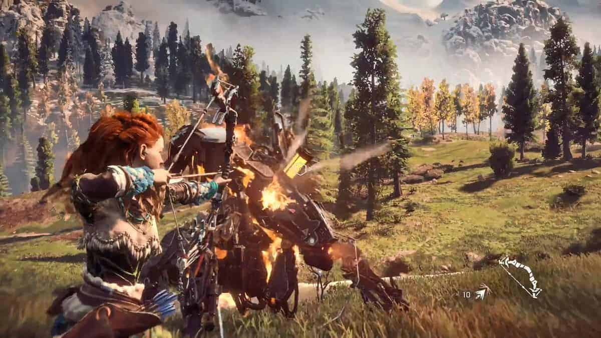 Godfather Hd Wallpaper New Horizon Zero Dawn Gameplay Footage From Brasil Game