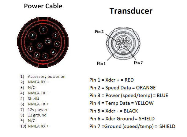 7 Pin Wiring Diagram For A Lowrance Transducer Schematic Diagram