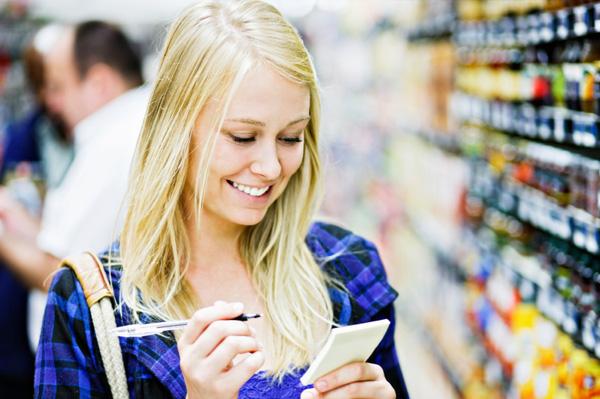 Put together a grocery list on a budget
