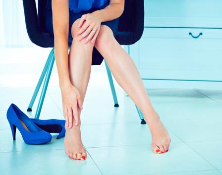 Woman wearing heels