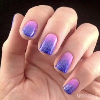 Lacquered love: Ombre nail art