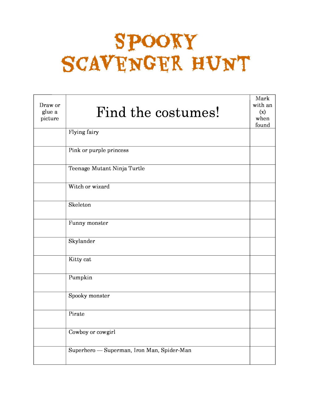 Fullsize Of Photo Scavenger Hunt Ideas