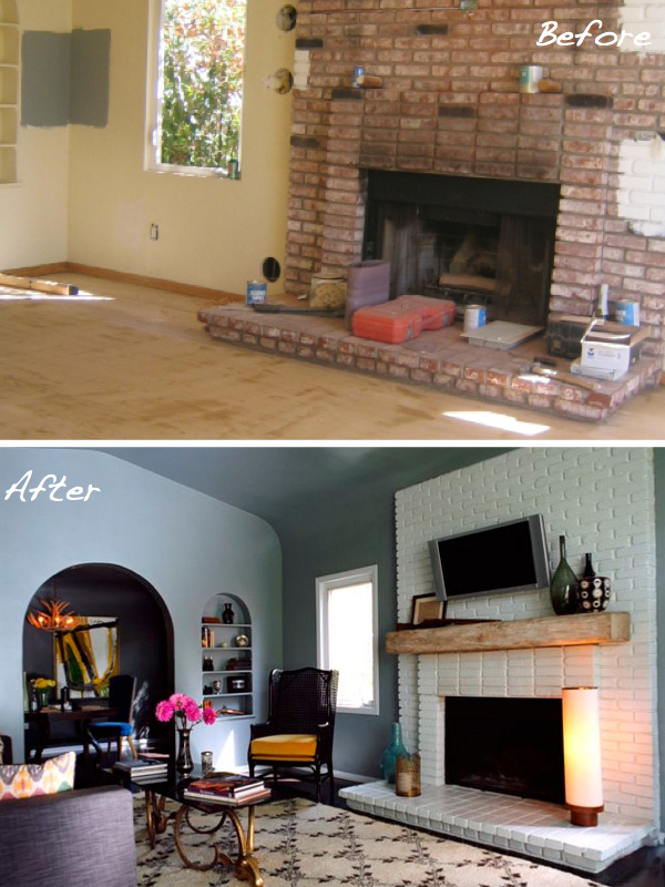 Before After 15 Fireplace Surrounds Made Over