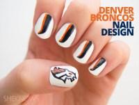 Nail design: Denver Broncos manicure tutorial