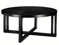 Black Lombard Round Coffee Table - Gift Ideas