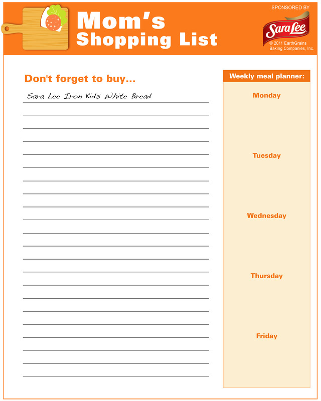 Shopping list - Free Printable Coloring Pages - shopping lists