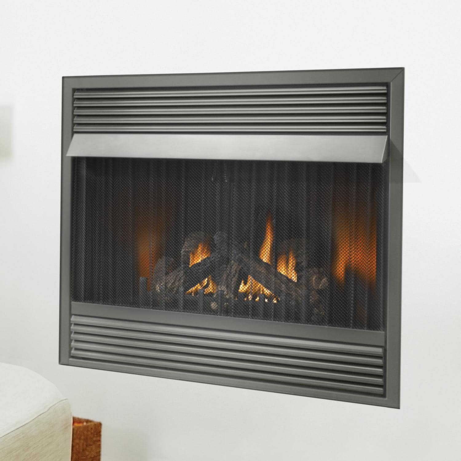 Napoleon Gas Fireplaces Napoleon Grandville 42 Inch Built In Vent Free Propane Gas Fireplace W Millivolt Ignition And Black Contour Louvres Gvf42 1p