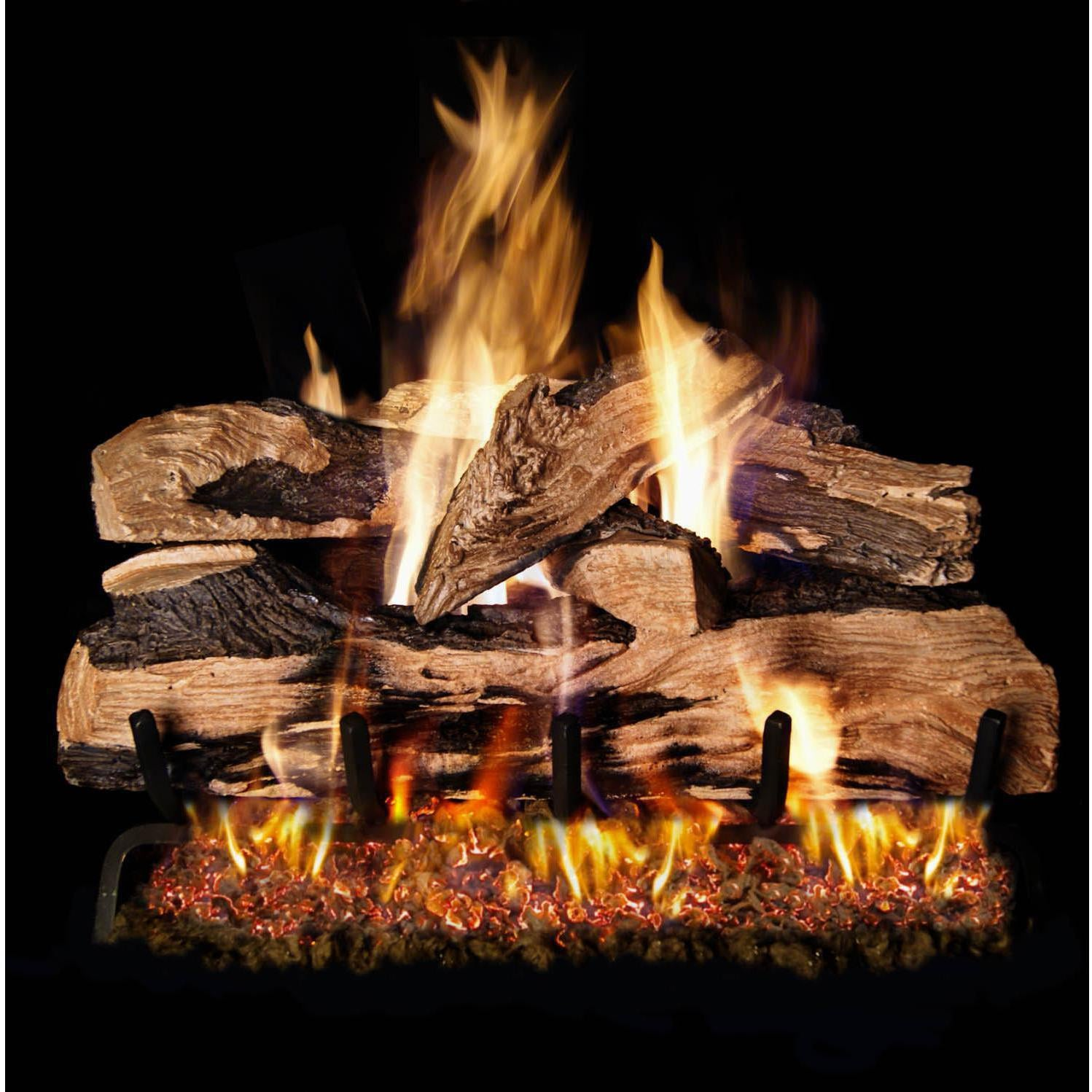 Ceramic Logs For Gas Fireplace Peterson Real Fyre 18 Inch Charred Oak Gas Log Set With Vented Natural Gas G4 Burner Match Light