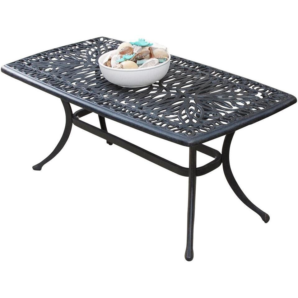 Rosedown Rectangular Cast Aluminum Patio Coffee Table By