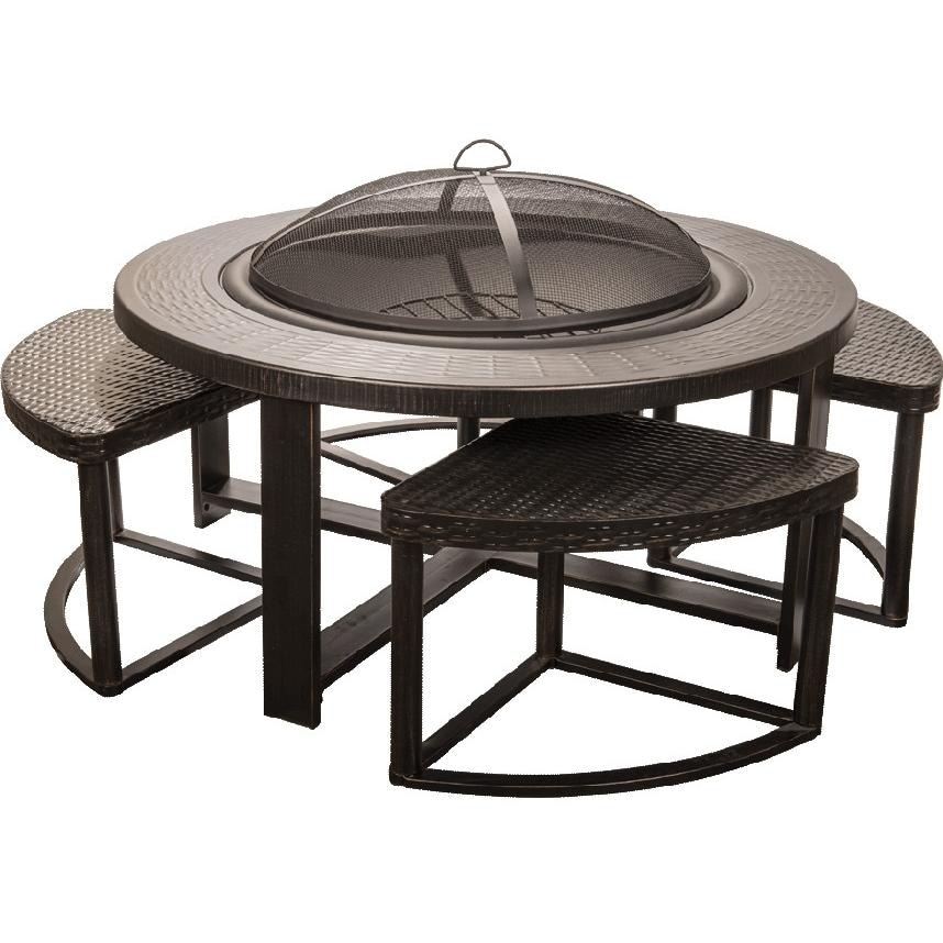 Alpine Flame 4 Person Cast Aluminum Patio Conversation Set