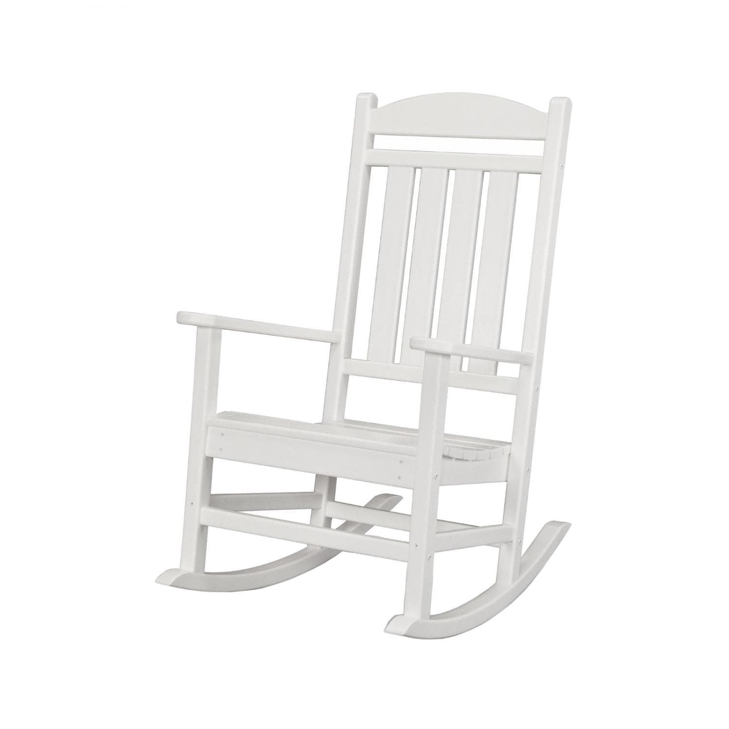 Patio Rocker Chairs Presidential Recycled Plastic Wood Patio Rocking Chair By Polywood White