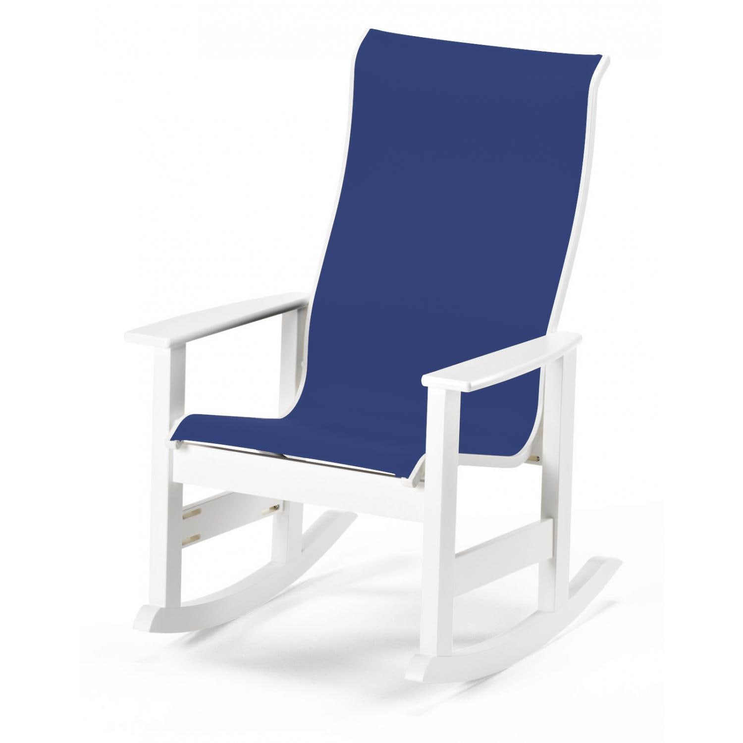 Patio Rocker Chairs Leeward Supreme Mgp Patio Rocking Chair With Sling Seating By Telescope Casual Textured Snow Atlantis