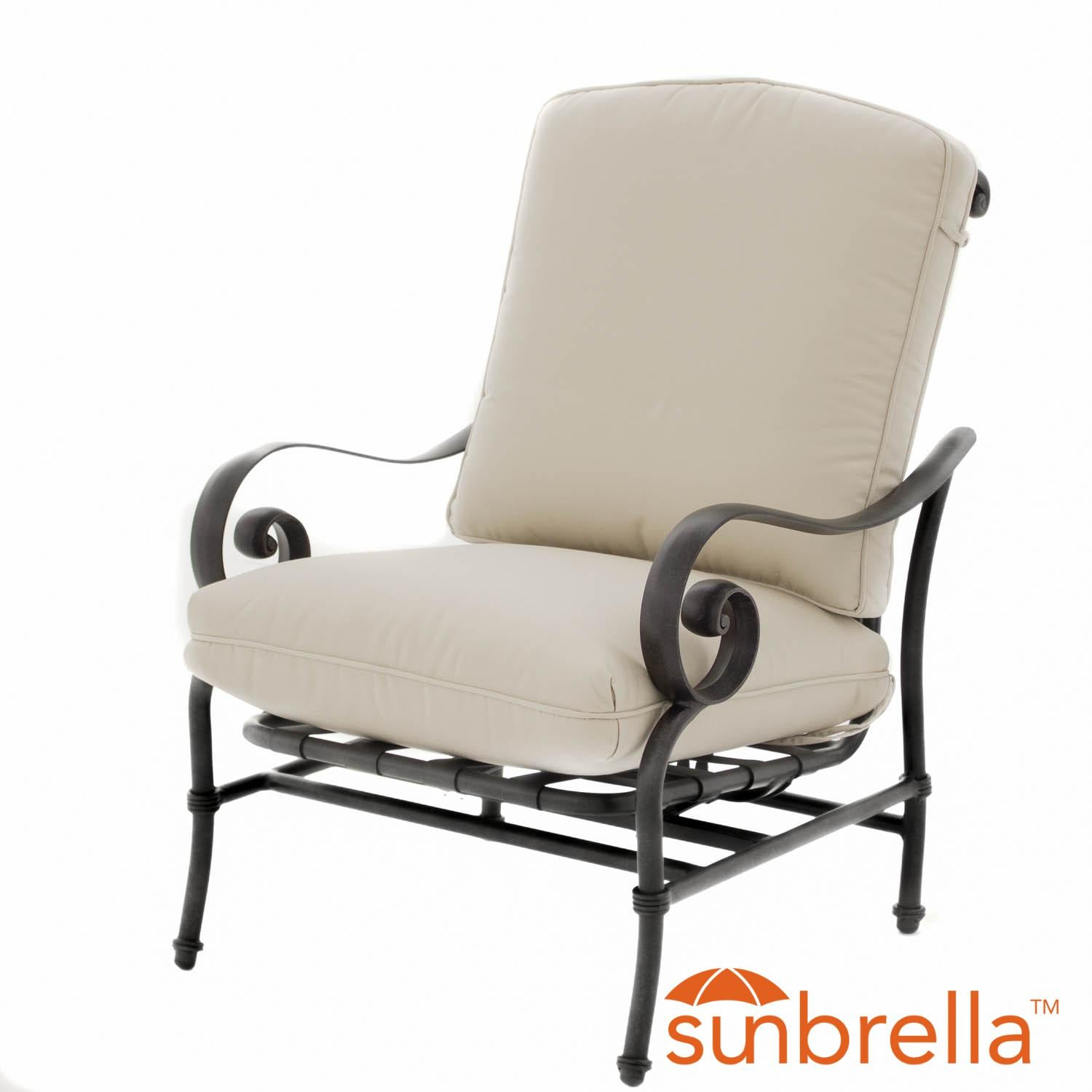 Elysian Aluminum Patio Motion Club Chair W Sunbrella