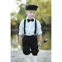 Royal Black Kids Suspender with bow tie for 2-6 year old ...