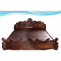 Buy Rose Wood Handicrafted Carving Cot Size 6x6.5 Bed ...
