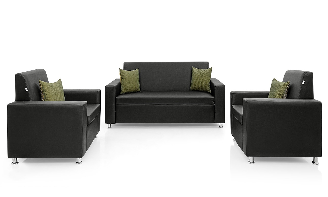 Sofa Set Price In Thanjavur Westido Sofa Set 3 431 431 In Black Pu Upholstery Without