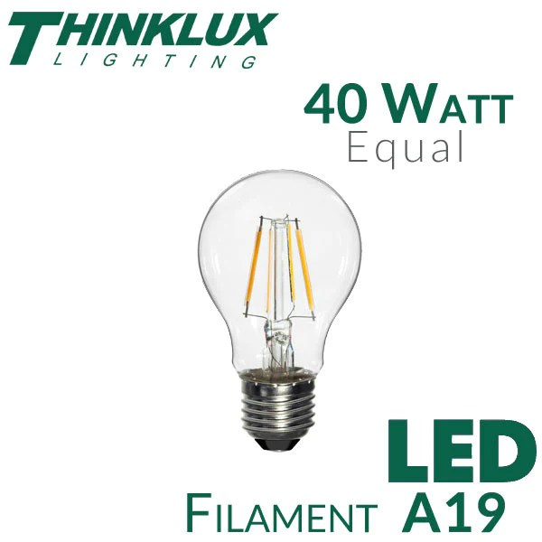 Outdoor Low Voltage Lighting Bulbs Led A19 Filament Light Bulb 40w Equal | Thinklux
