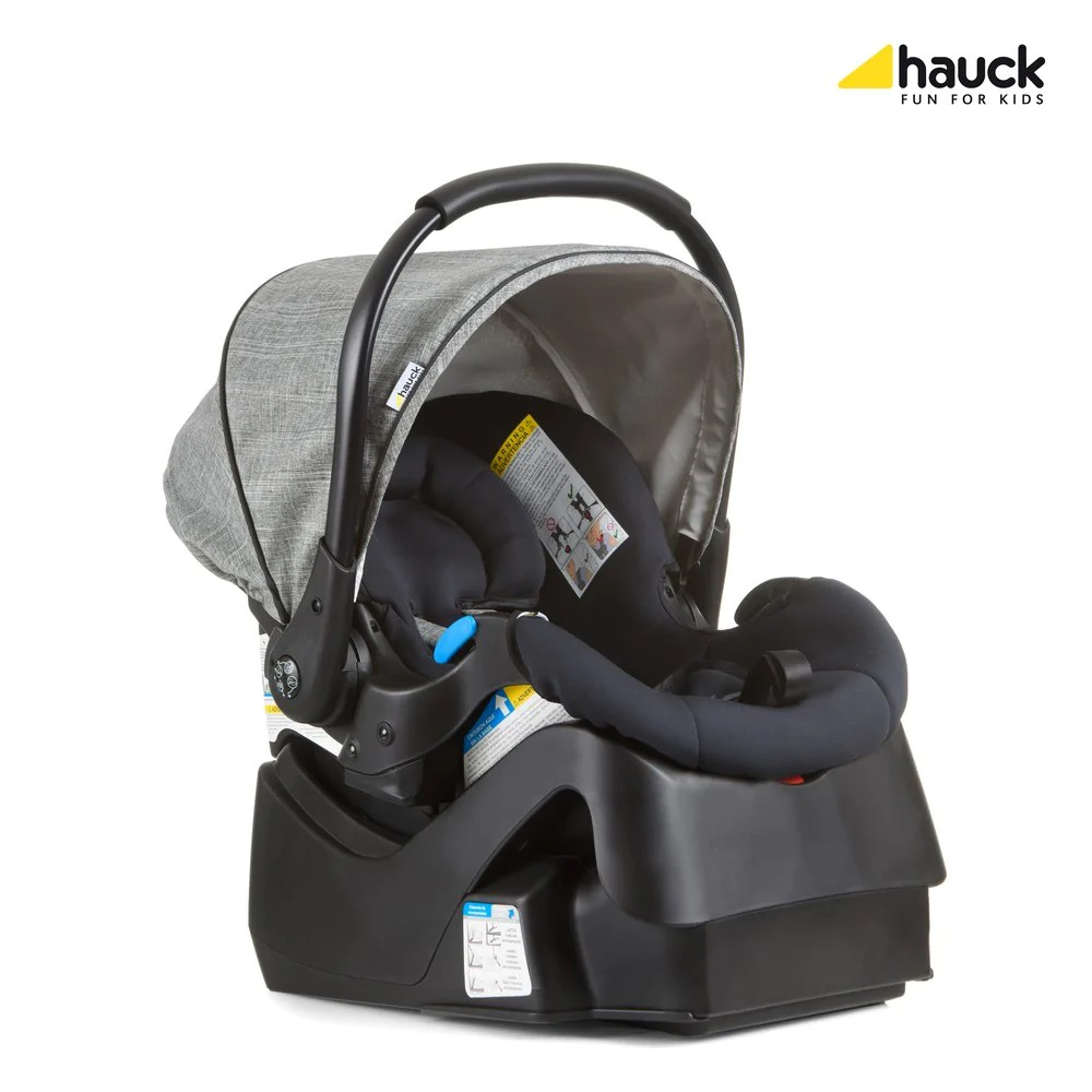 Car Seat Carrier Stroller Hauck Polo Travel System Pryia Stroller And Prosafe 35 Carseat Melange Grey