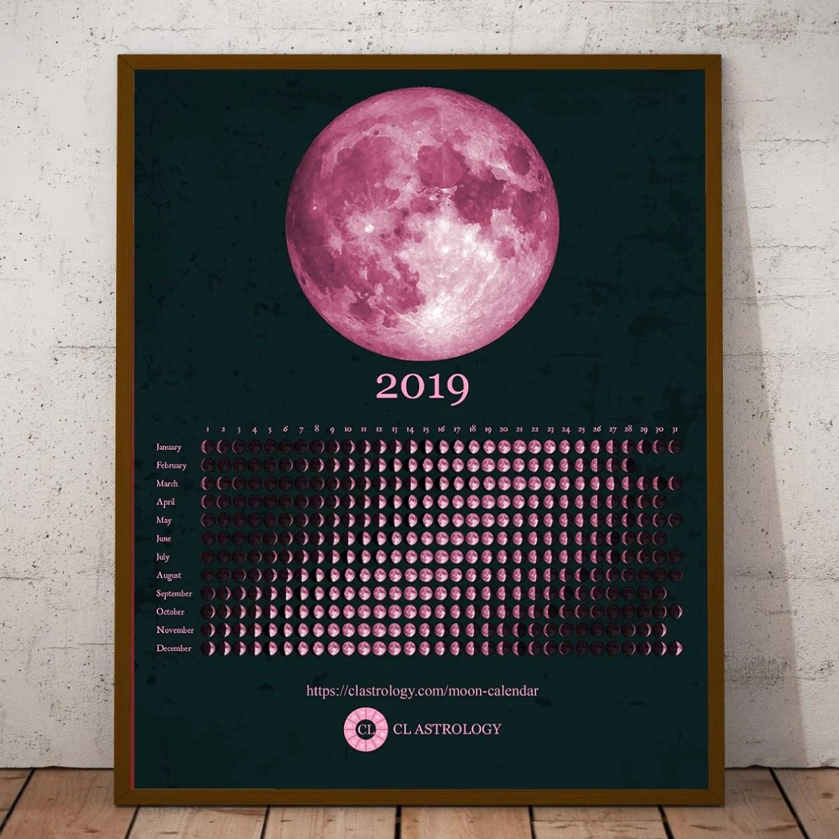 horizontal calendar 2019
