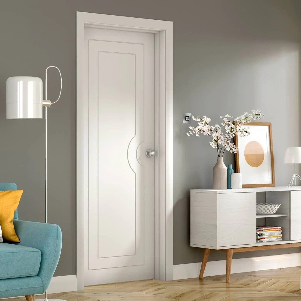 Design Your Own Internal Door Potenza White Flush Door - Prefinished