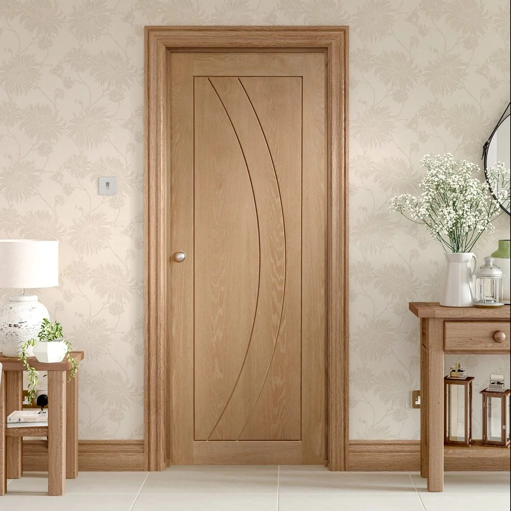 Dsk Doors Door And Frame Kit Salerno Oak Flush Door Prefinished