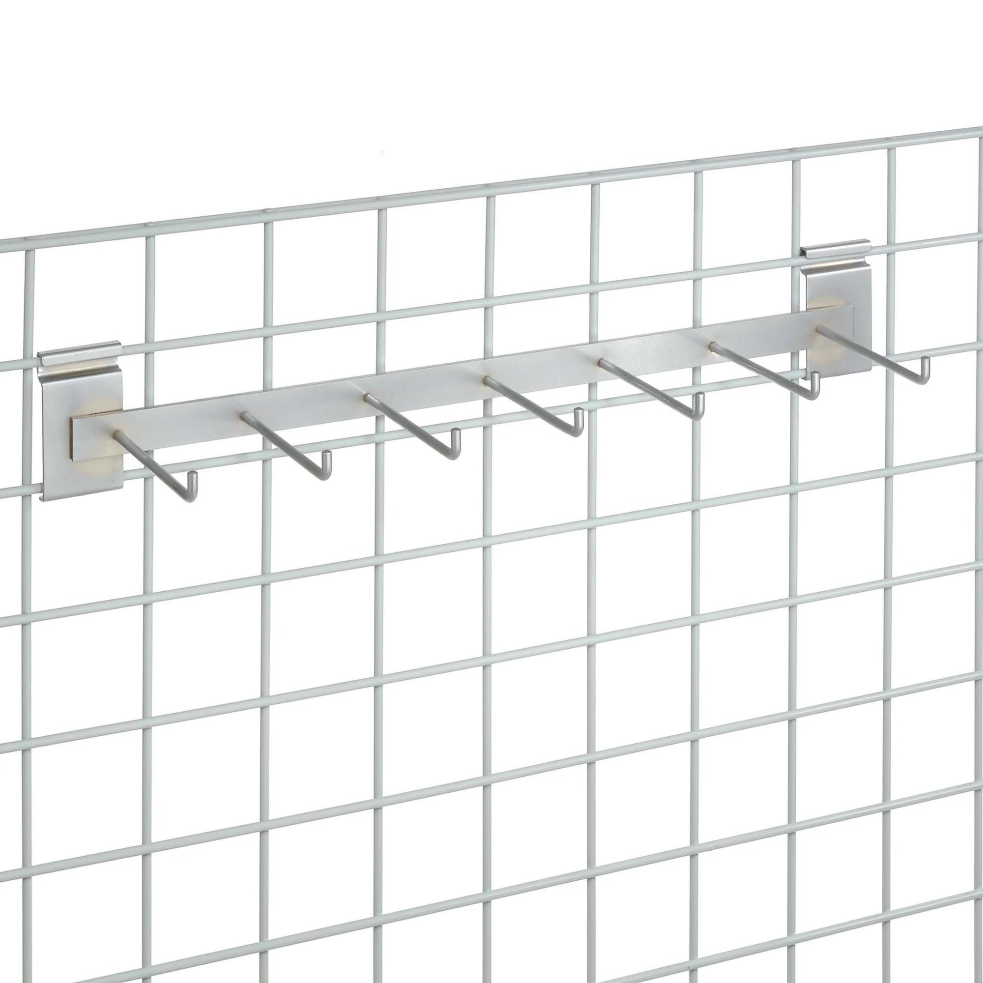 Wall Grid Grid Wall 2 Hook Rail Bars 24 Inches Long With 7 5in Hooks