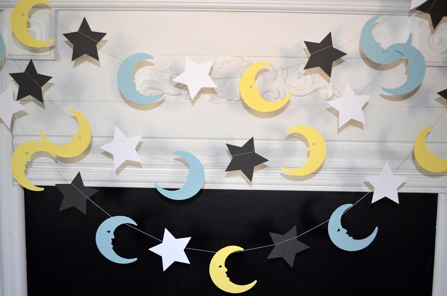 Stars Room Decor Moon And Stars Garland Love You To The Moon And Back Moon And