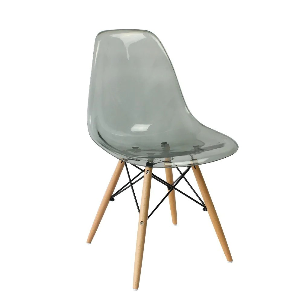 Eames Dsw Eames Dsw Style Chair Clear Smokey Grey