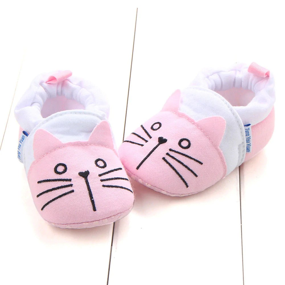Newborn Crib Shoes 2018 Brand New Toddler Newborn Baby Boys Girls Animal Crib Shoes Infant Cartoon Soft Sole