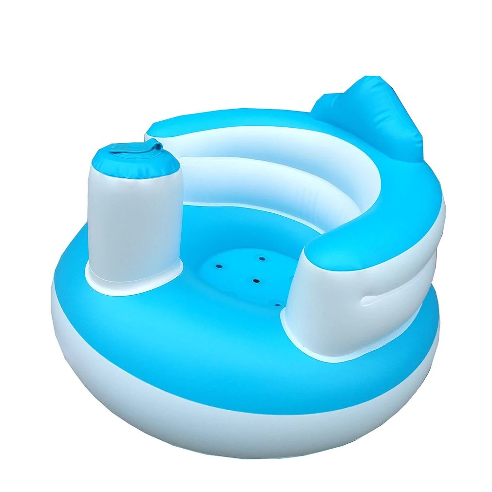 Infant Learning Chair Baby Inflatable Seat Toy Soft Sofa Infant Learning To Sit Chair Keep Sitting Posture For 6 Months Baby Bathing Swimming Accs