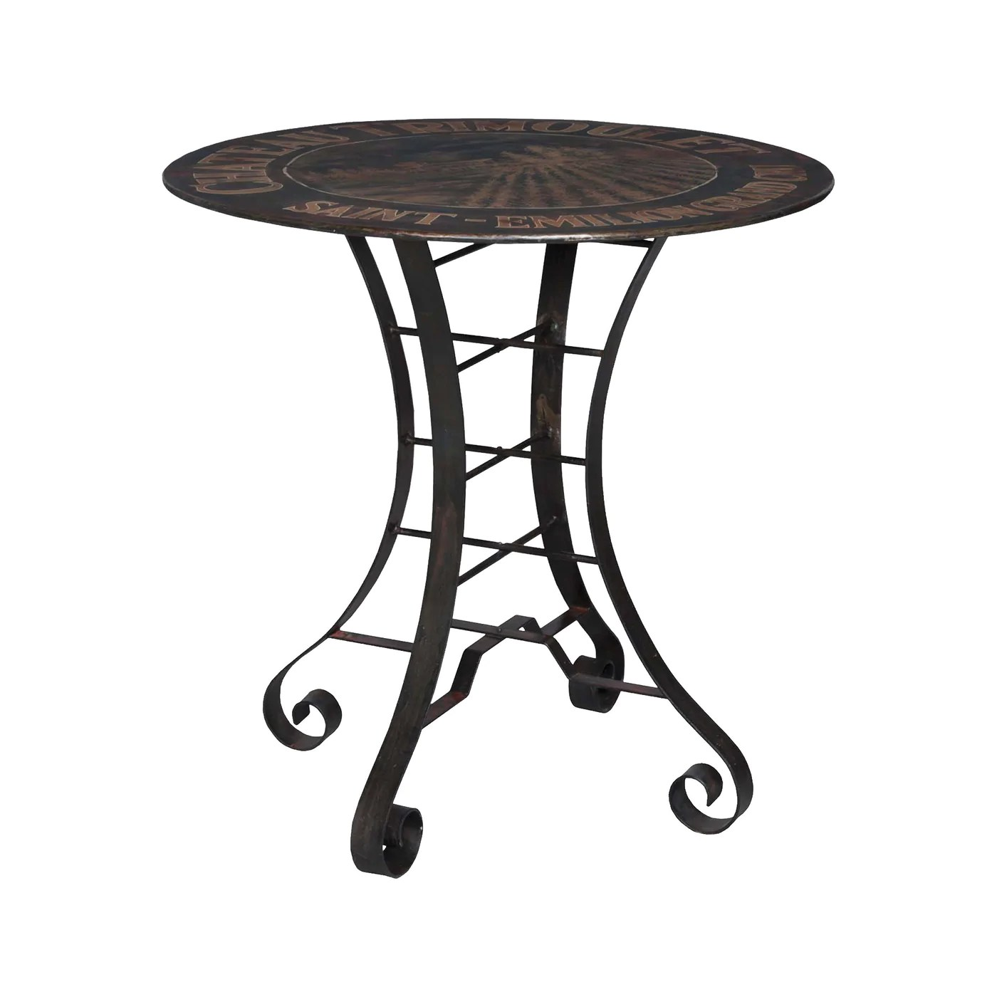 Chaise Metal Bistro 36 Inch Metal Bistro Table