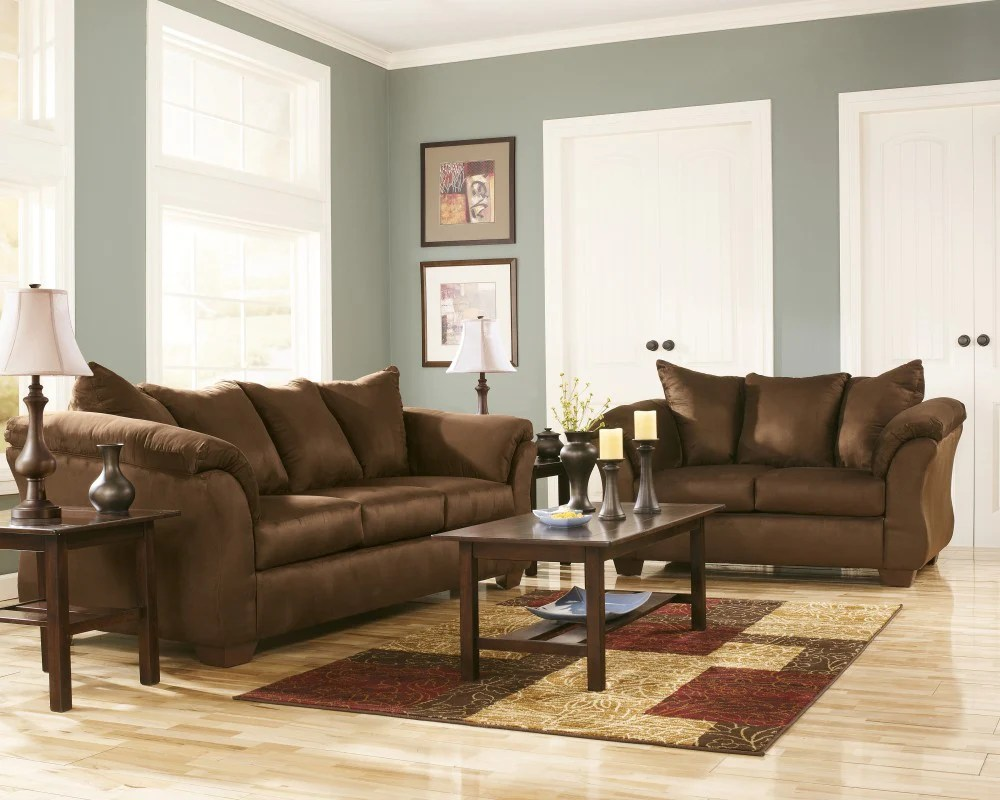 Emelen Sofa And Loveseat Darcy Sofa Loveseat Set Cafe
