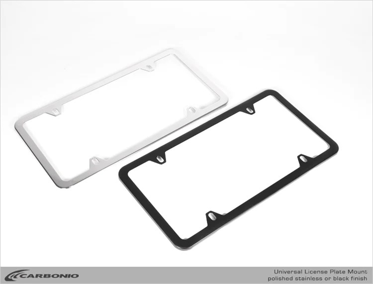 Stainless Steel License Plate Frame Carbonio
