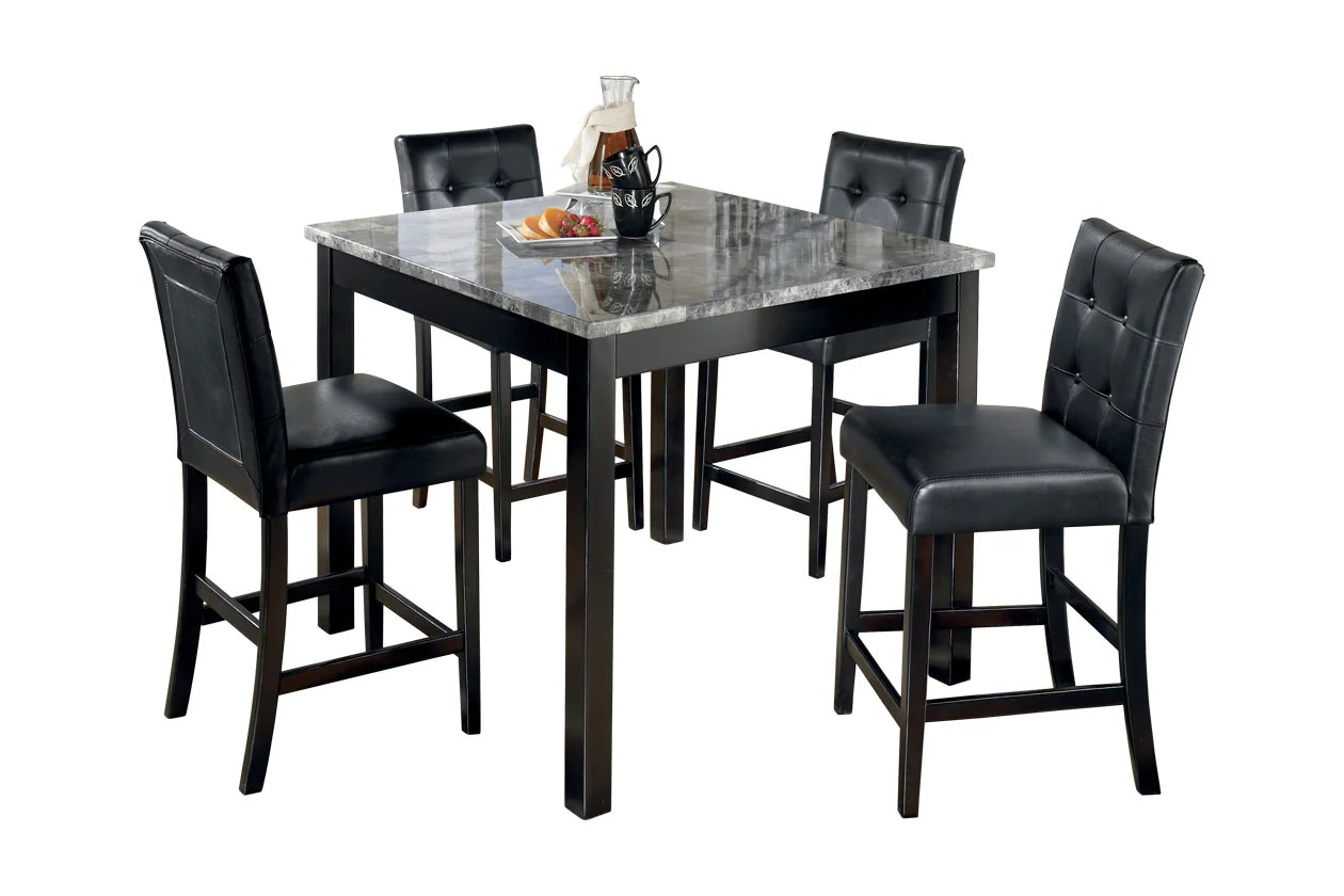 Table And Bar Stools Maysville Counter Height Dining Room Table And Bar Stools Set Of 5 D154 223