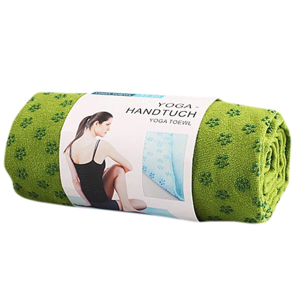 Yoga Handtuch Microfiber Non Skid Yoga Mat Towel 183 61 Cm Green Yoga Towel With Mesh Bag