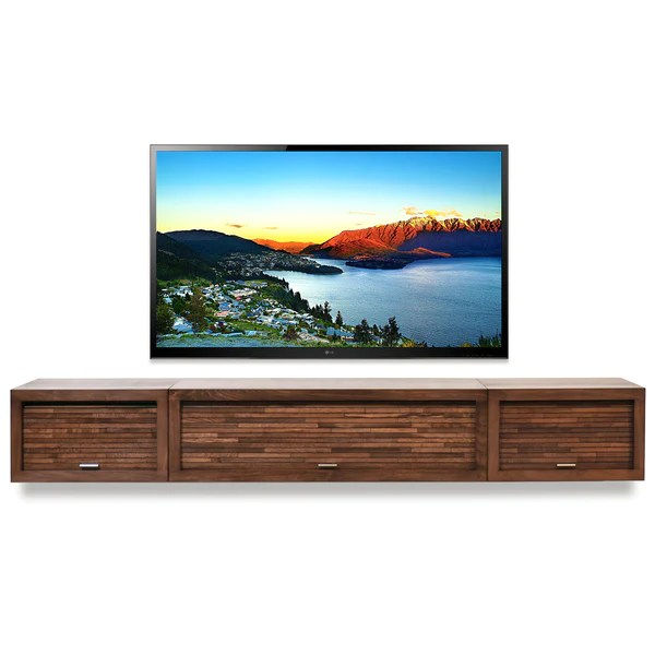 Traditional Cottage Decor Wall Mounted Floating Tv Stand Entertainment Center - Eco
