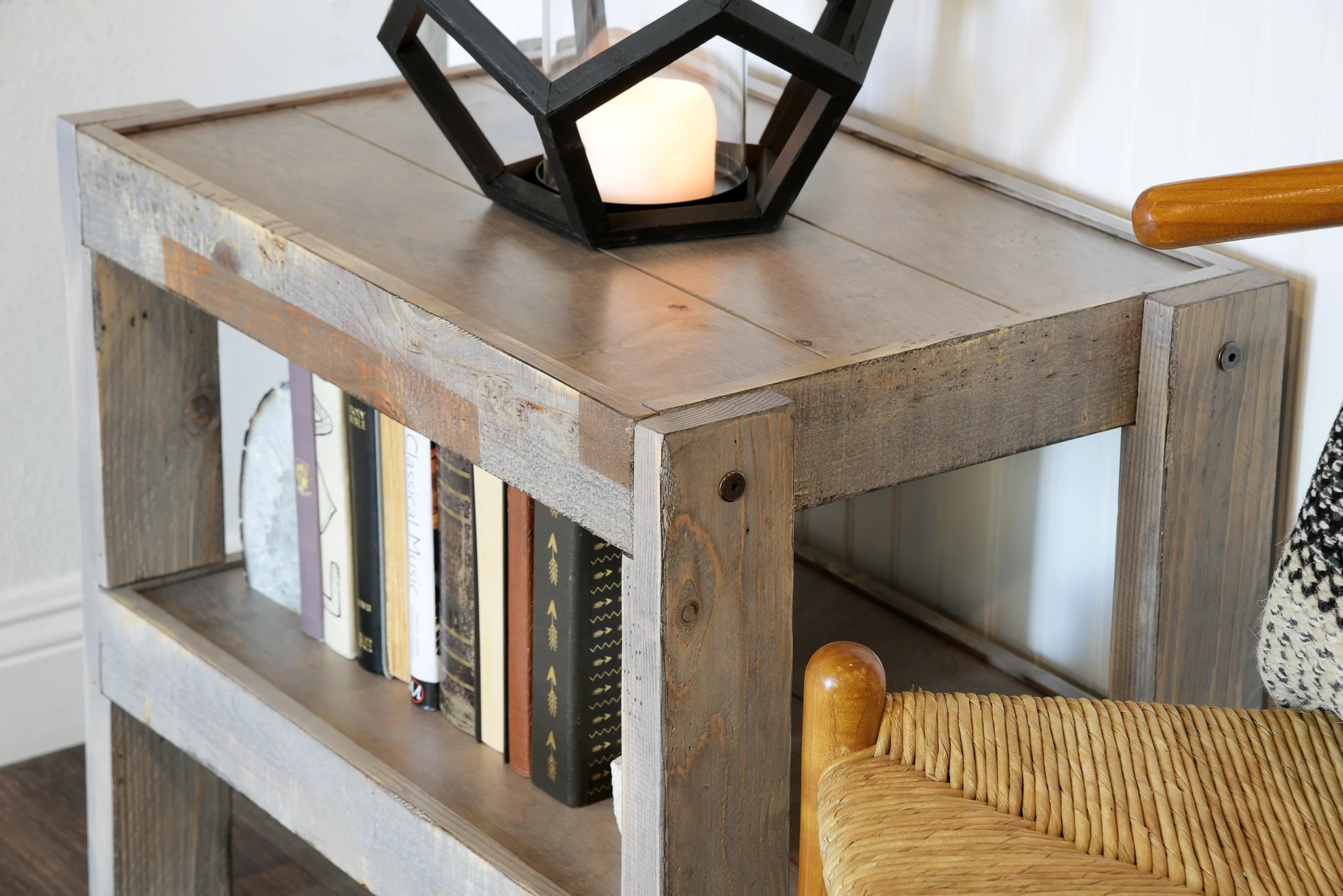 Rustic Wood End Table Gray Rustic Reclaimed Pallet Wood Style Beach House Coastal End Table Nightstand Presearth Lakewood