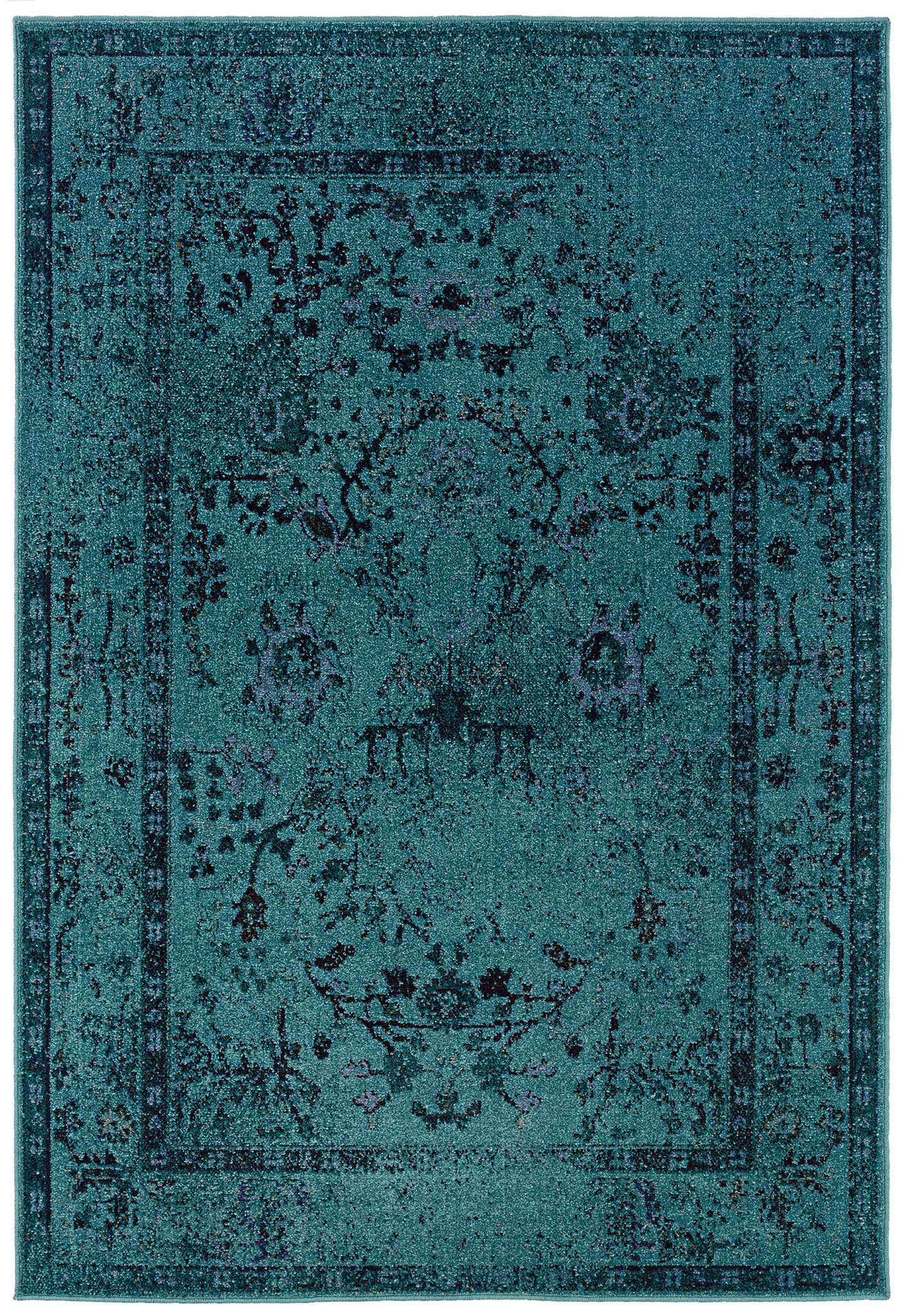 Teal Color Area Rugs Teal Blue Overdyed Style Area Rug