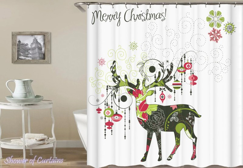 Large Of Christmas Shower Curtains
