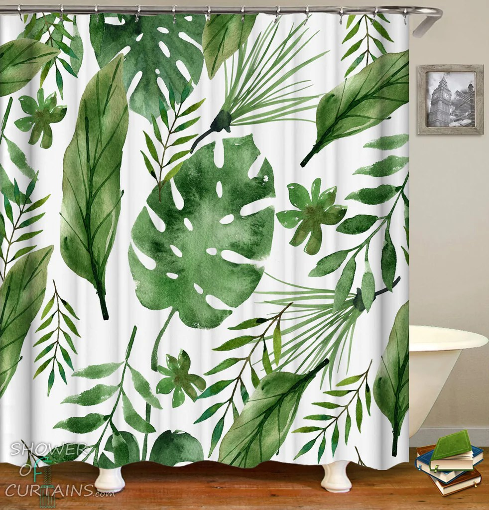 Banana Leaf Shower Curtain Leaf Shower Curtain Shower Of Curtains