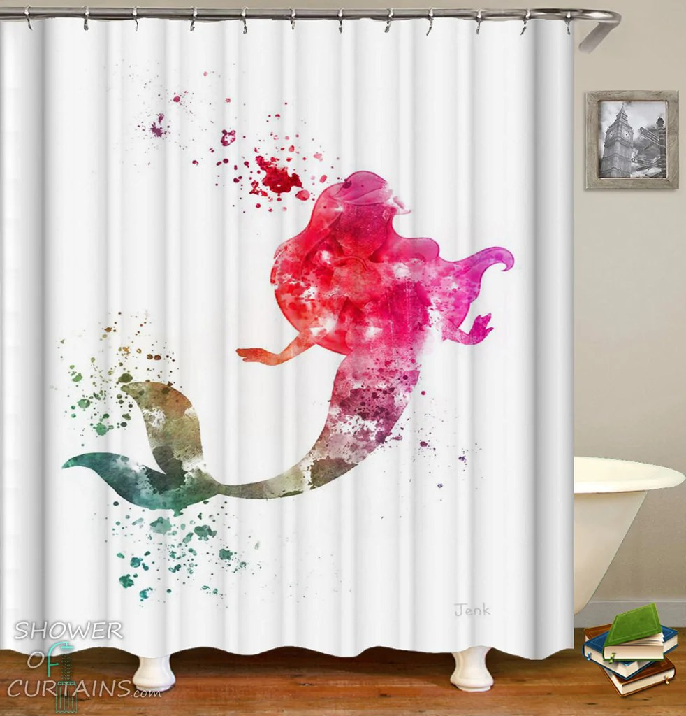 Ariel Shower Curtain Mermaid Shower Curtain Collection Shower Of Curtains